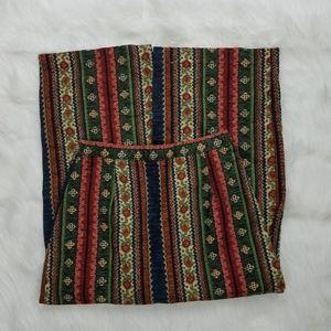 Vintage Bohemian Cotton High Waist Maxi Skirt